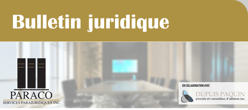 Bulletin juridique
